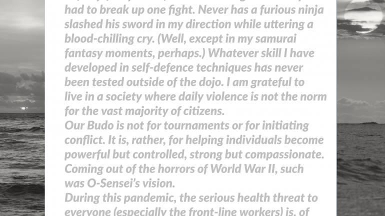AIKIDO AND THE COVID-19 PANDEMIC